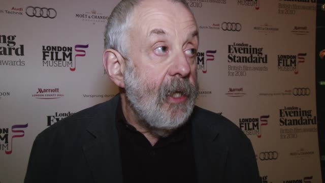 mike leigh, evening standard film awards evening standard film awards on february 07, 2011 in london, england - grey hair stock videos & royalty-free footage
