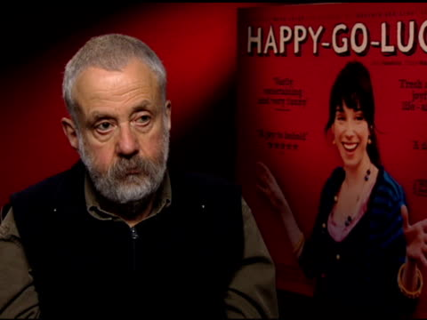 mike leigh on film festivals at the 'happy-go-lucky' junket at null in london on april 3, 2008. - フラワーアレンジメント点の映像素材/bロール