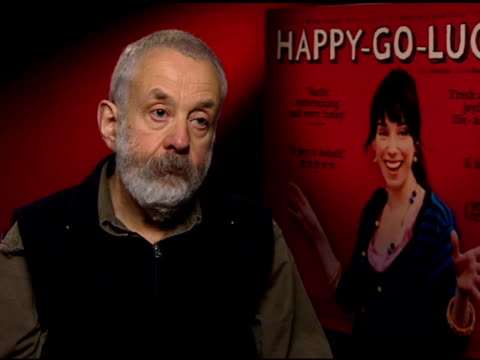 mike leigh on the inspiration for the film at the 'happy-go-lucky' junket at null in london on april 3, 2008. - フラワーアレンジメント点の映像素材/bロール