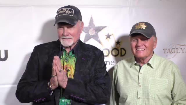 mike love bruce johnston at hollywood walk of fame honors on october 25 2016 in hollywood california - mike love stock videos & royalty-free footage