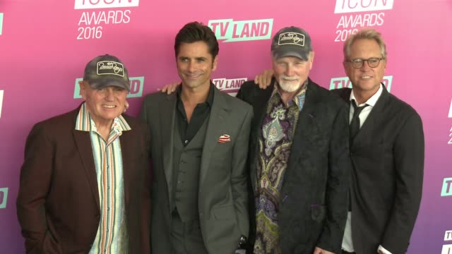 Mike Love John Stamos Bruce Johnston and the Beach Boys at 2016 TV Land Icon Awards at Barker Hangar on April 10 2016 in Santa Monica California