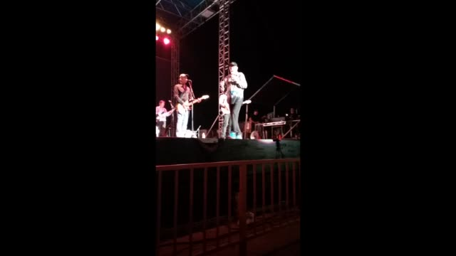 mike love leads the beach boys in tonight's concert on the stage of the nextech wireless arena at the kansas state fair - mike love stock videos & royalty-free footage
