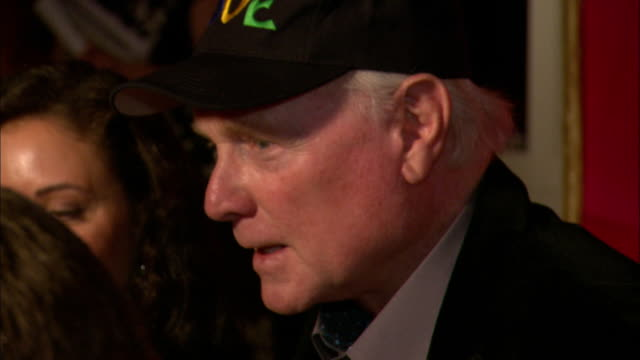 mike love with jacqueline piesen talking to reporter on the red carpet at the mgm grand garden arena - mike love stock videos & royalty-free footage