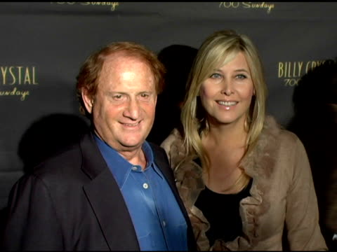 mike medavoy at the los angeles opening night of the tony award winning broadway show billy crystal '700 sundays' at the wilshire theatre in beverly... - broadway show stock videos and b-roll footage