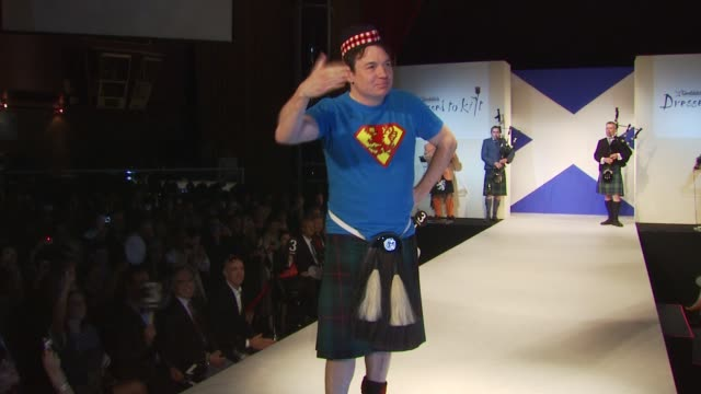 mike meyers at the 8th annual 'dressed to kilt' charity fashion show at new york ny - dressed to kilt stock videos & royalty-free footage