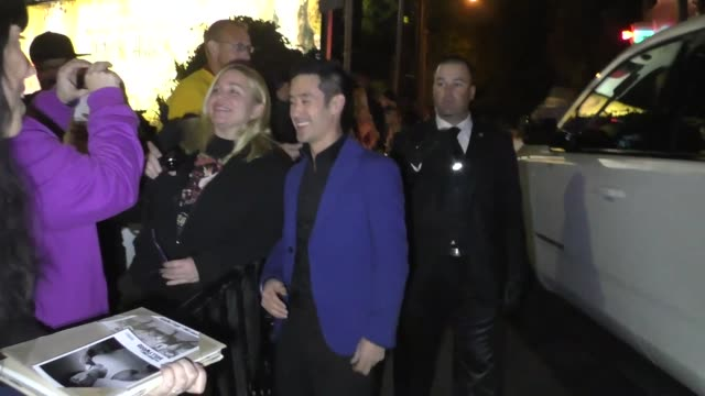 mike moh outside the entertainment weekly prescreen actors guild awards party at chateau marmont in los angeles at celebrity sightings in los angeles... - entertainment weekly stock videos & royalty-free footage
