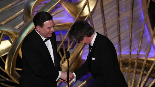 Mike Myers and Dana Carvey speak onstage during the 91st Annual Academy Awards at Dolby Theatre on February 24 2019 in Hollywood California