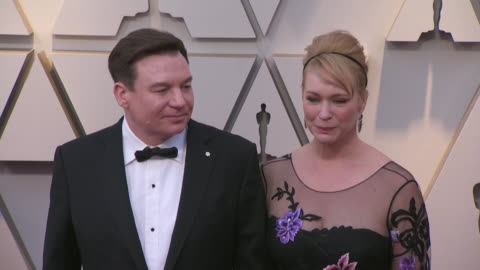 mike myers and kelly tisdale walking the red carpet at the 91st annual academy awards at the dolby theater in los angeles, california. - music or celebrities or fashion or film industry or film premiere or youth culture or novelty item or vacations stock videos & royalty-free footage