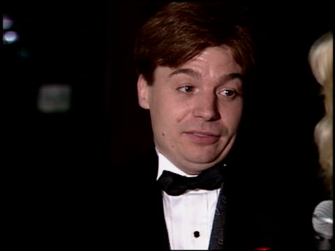 mike myers at the 1994 emmy awards post show at the pasadena civic auditorium in pasadena california on september 11 1994 - pasadena civic auditorium stock videos & royalty-free footage