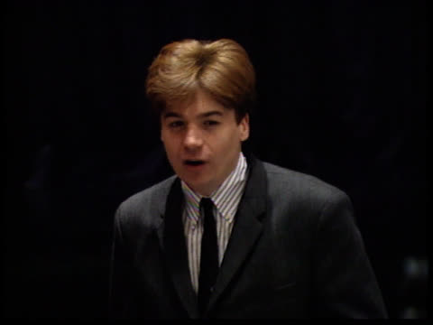 mike myers smiles for photographers - friars roast 1993 stock videos and b-roll footage