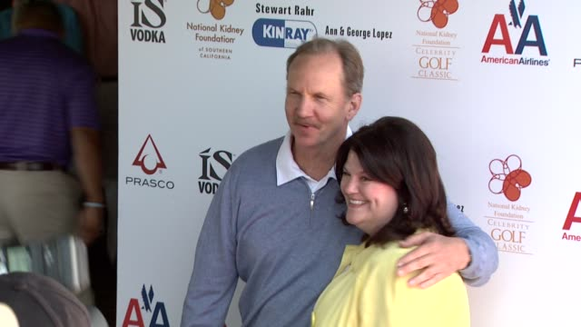 Mike O'Neil Ann Lopez at the 2nd Annual National Kidney Foundation Celebrity Golf Classic at Toluca Lake CA