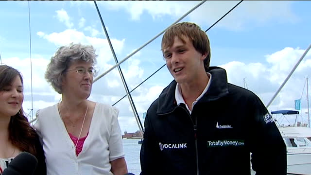 mike perham interview continued sot - love sailing in southern ocean - mike love stock videos & royalty-free footage