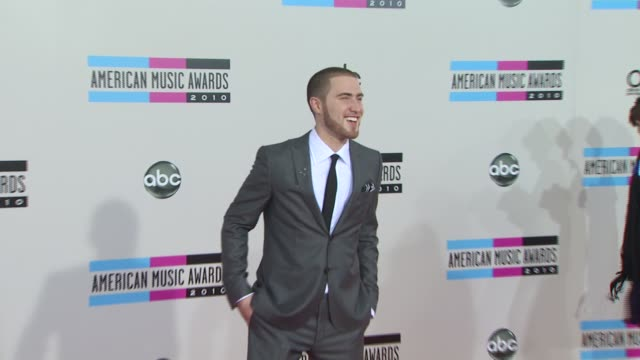 mike posner at the 2010 american music awards arrivals at los angeles ca - american music awards stock videos and b-roll footage