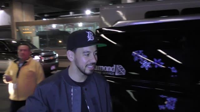 Mike Shinoda arriving to the Sundance Film Festival at Salt Lake City Airport in Utah in Celebrity Sightings in Park City UT