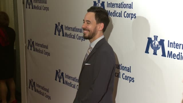mike shinoda at international medical corps annual awards celebration in los angeles ca - linkin park stock videos and b-roll footage