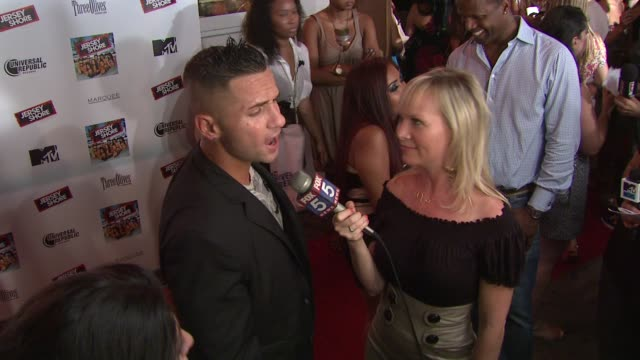mike 'the situation' sorrentino at the 'jersey shore' soundtrack release party at new york ny - soundtrack stock videos & royalty-free footage