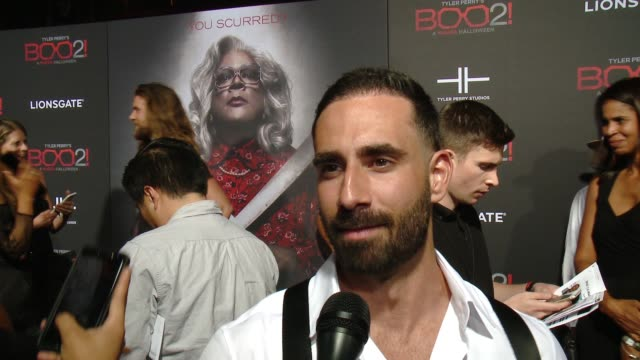 """INTERVIEW Mike Tornabene on the premiere at Lionsgate Presents the Los Angeles Premiere of Tyler Perry's """"Boo 2 A Madea Halloween"""" in Los Angeles CA"""