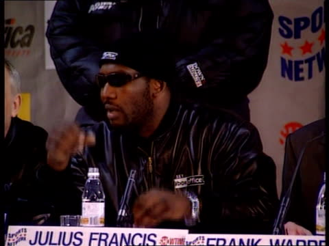 mike tyson allegedly assaults stripper lib london press conference ms julius francis sitting at press conference ms mike tyson sitting at press... - mike tyson boxer stock videos and b-roll footage