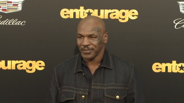 """mike tyson at """"entourage"""" los angeles premiere at regency village theatre on june 01, 2015 in westwood, california. - regency village theater stock videos & royalty-free footage"""