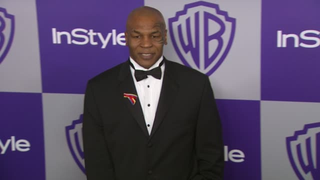 vídeos y material grabado en eventos de stock de mike tyson at the warner bros and instyle golden globe afterparty at beverly hills ca - warner bros
