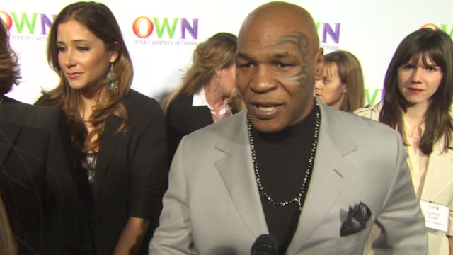 mike tyson on what viewers can expect from his new tv show what people will be surprised to learn about him through the show why oprah winfrey... - kritiker stock-videos und b-roll-filmmaterial