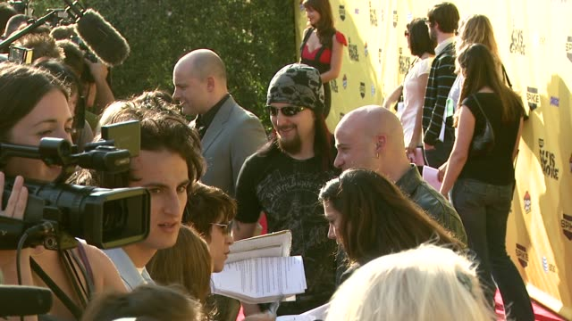 mike wengren and david draiman of disturbed at the spike tv's guys' choice awards at radford studios in los angeles california on june 10 2007 - spike guys choice awards video stock e b–roll