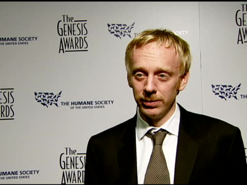 Mike White director of 'Year of the Dog' on the award his film and making a movie that creates awareness about animals rights issues at the 2008...