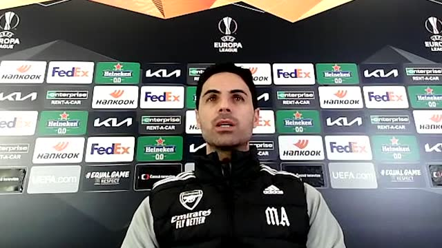 mikel arteta says his team must not focus on their opponents' excellent home form ahead of arsenal's second leg europa league fixture against slavia... - perfection stock videos & royalty-free footage