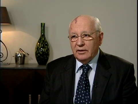 Mikhail Gorbachev interview Mikhail Gorbachev interview SOT On value of help from celebrities in raising money including Bono and Russian theatrical...