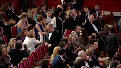 stockvideo's en b-roll-footage met mikhail gorbachev's 80th birthday celebrated at the royal albert hall; england: london: royal albert hall: int gvs of interior of theatre with people... - royal albert hall
