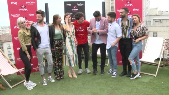 miki attends a last photocall before eurovision 2019 - eurovision song contest stock videos & royalty-free footage