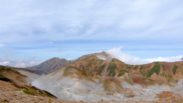 mikurigaike pond and murodo plateau in tateyama kurobe alpine route, toyama, japan - mountain range stock videos & royalty-free footage