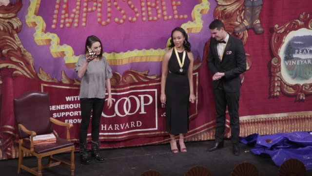 mila kunis at hasty pudding theatricals honors mila kunis as 2018 woman of the year on january 25 2018 in cambridge massachusetts - dessert stock videos and b-roll footage