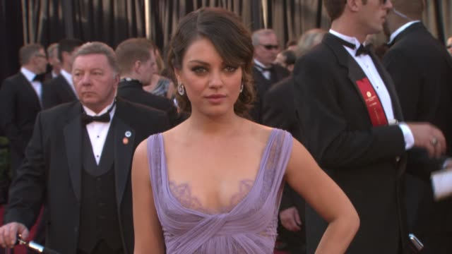 mila kunis at the 83rd annual academy awards - arrivals pool cam at hollywood ca. - academy awards stock-videos und b-roll-filmmaterial