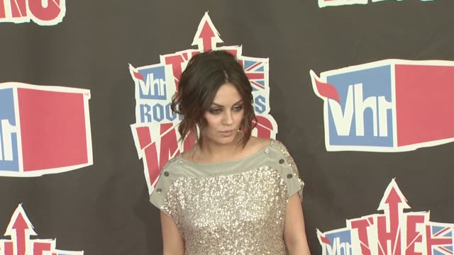 mila kunis at the vh1 rock honors at los angeles ca - vh1 stock videos & royalty-free footage