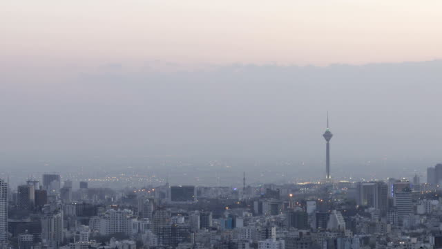 milad tower timelapse, tehran iran - tehran stock videos & royalty-free footage
