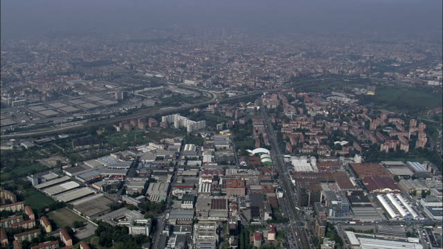 milan - aerial view - lombardy, milan, italy - milan stock videos & royalty-free footage