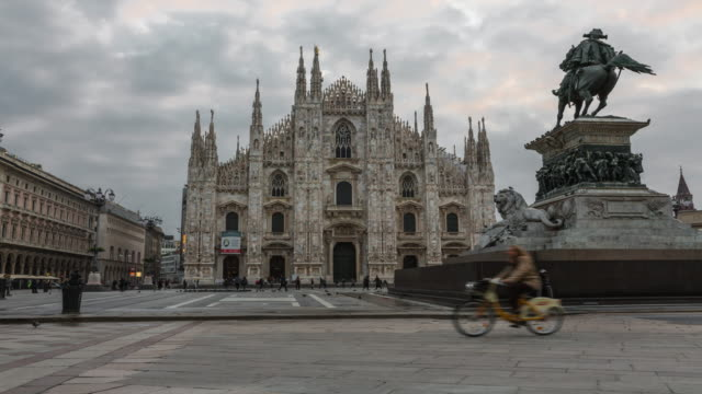 duomo di milano and piazza del duomo in milan - italian culture stock videos & royalty-free footage
