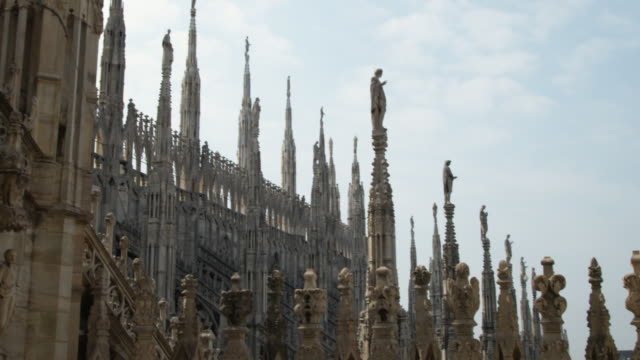 ms tu milan cathedral exterior / milan, italy - cathedral stock videos & royalty-free footage