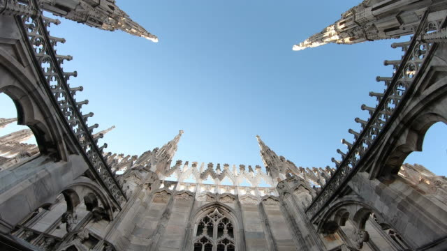 milan cathedral (duomo di milano ) - gothic style stock videos & royalty-free footage