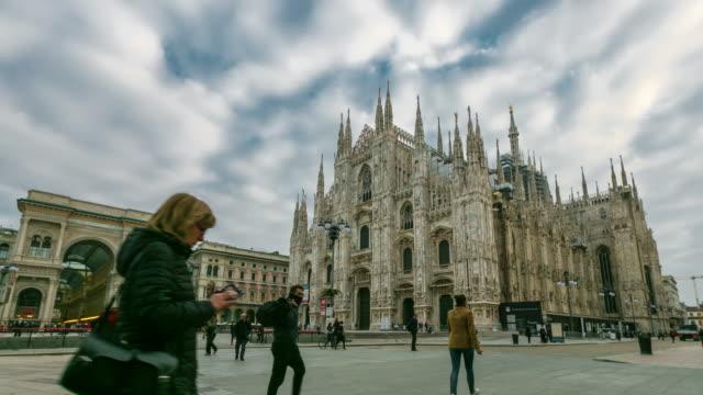 Milan Cathedral (Duomo di Milano), Vittorio Emanuele II Gallery and piazza del Duomo in Milan, Italy