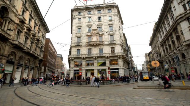 milan city , time lapse - milan stock videos & royalty-free footage