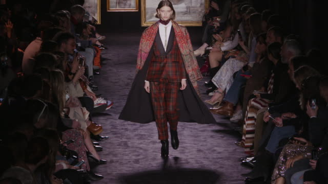 milan fashion week women's fall / winter 2020 - 2021 - etro on february 21, 2020 in milan, . - fashion show stock videos & royalty-free footage