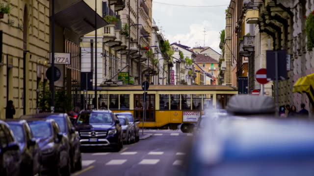 milan, italy footage series - traffico video stock e b–roll