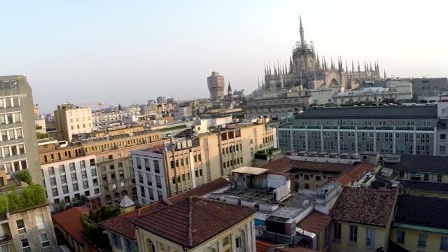 Milan, Italy (aerial video)
