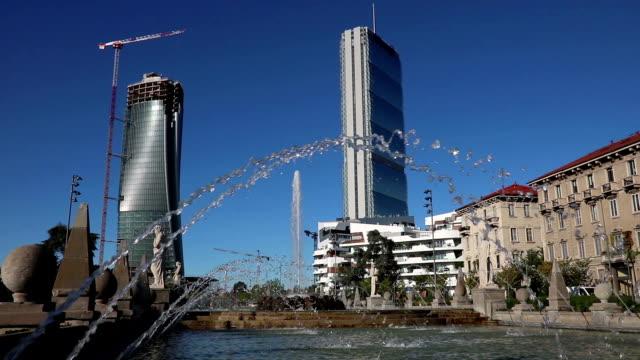 Milan new residential district panoramic