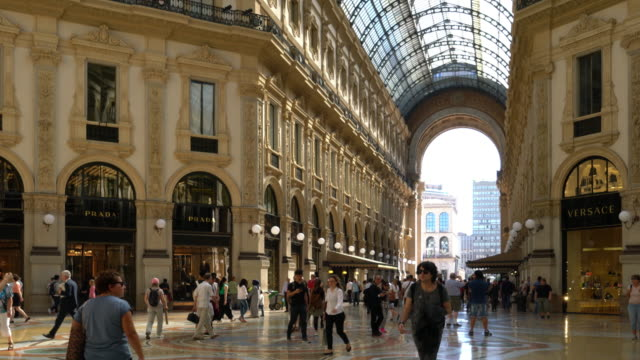 "Milan, the ""Galleria Vittorio Emanuele""."