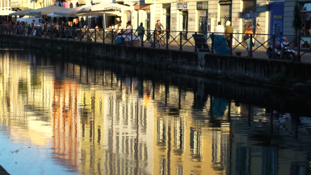 Milan, the Navigli district.