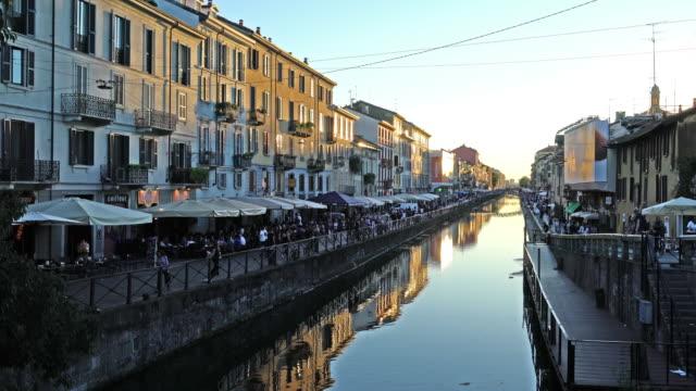 Milan, the Navigli district.