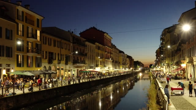 milan, the navigli district. - establishing shot stock videos & royalty-free footage